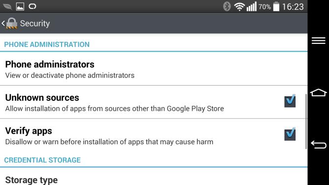 Unbekannte Quellen Android