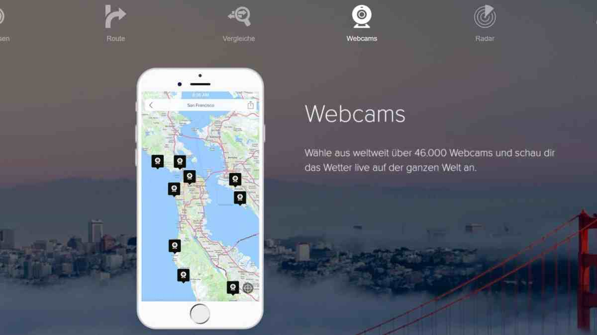 Morecast, eine Wetter-App aus Österreich