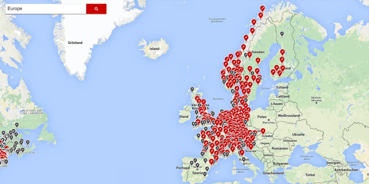 Europa: Teslas Ladenetzwerk wird immer größer