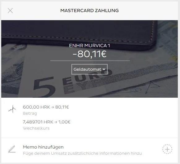 Abhebnung von Bankomat mit einer N26 Karte