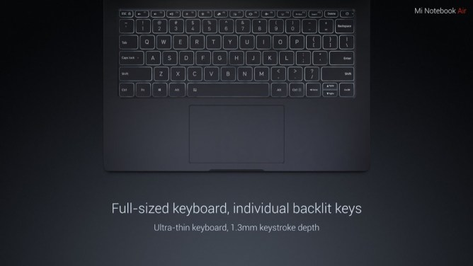 Mi Notebook Air, beleuchtete Tastatur