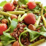 Strawberry Balsamic Black Rice Salad