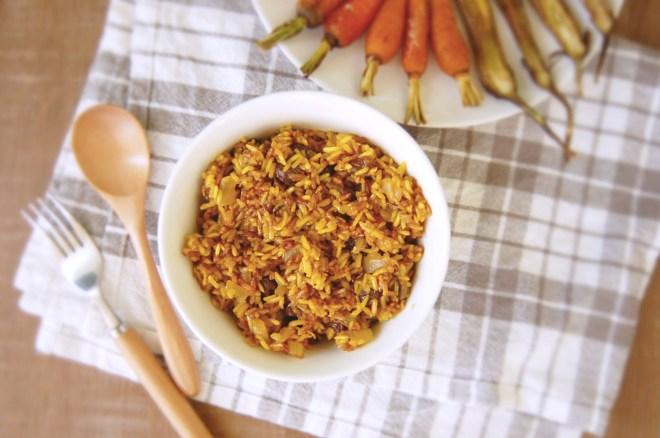 Cinnamon Turmeric Sultana Rice