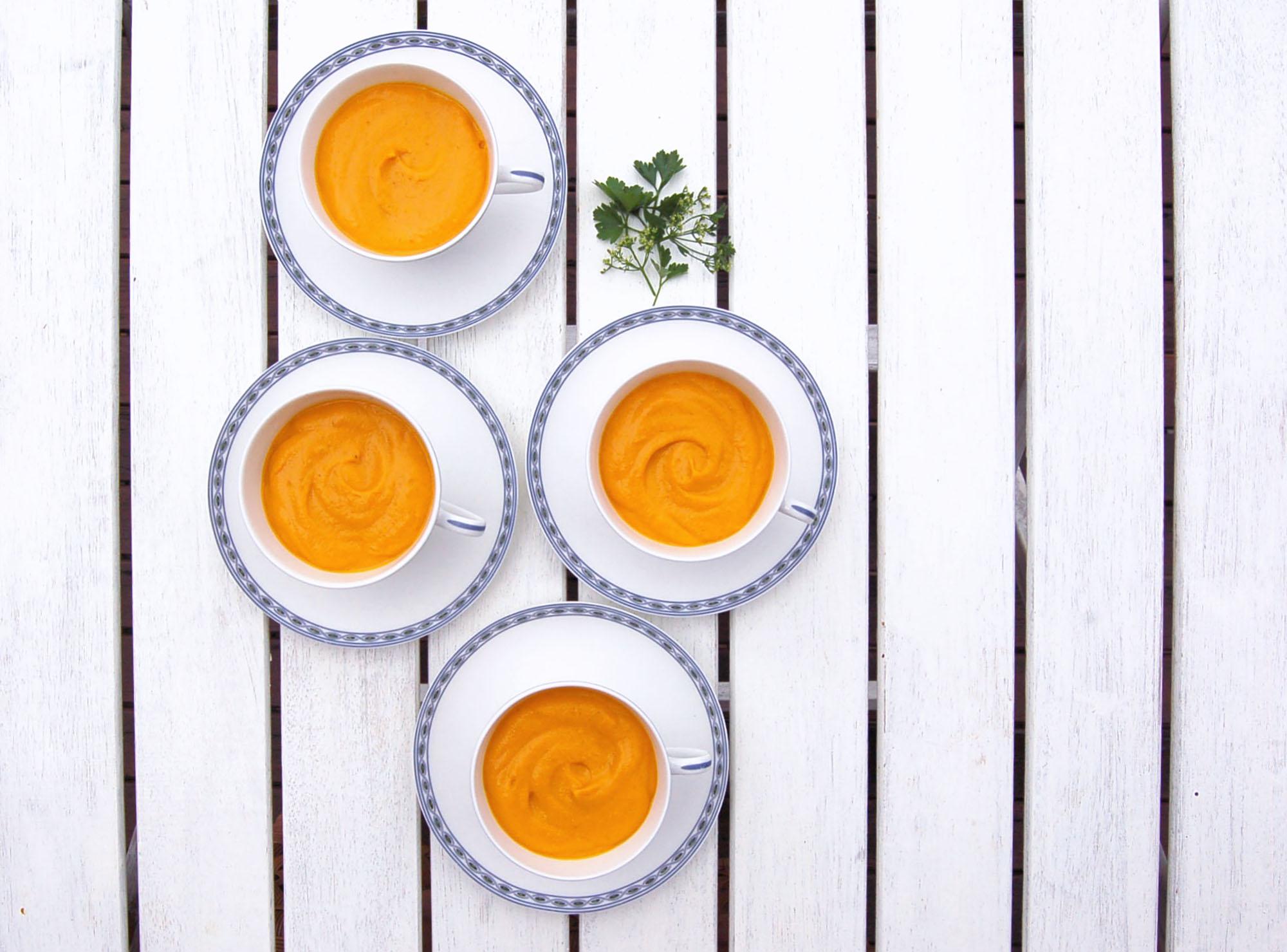Creamy Sweet Potato & Ginger Soup