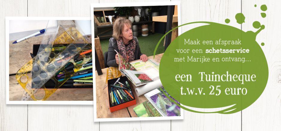 Schetsservice bij Groencentrum Witmarsum