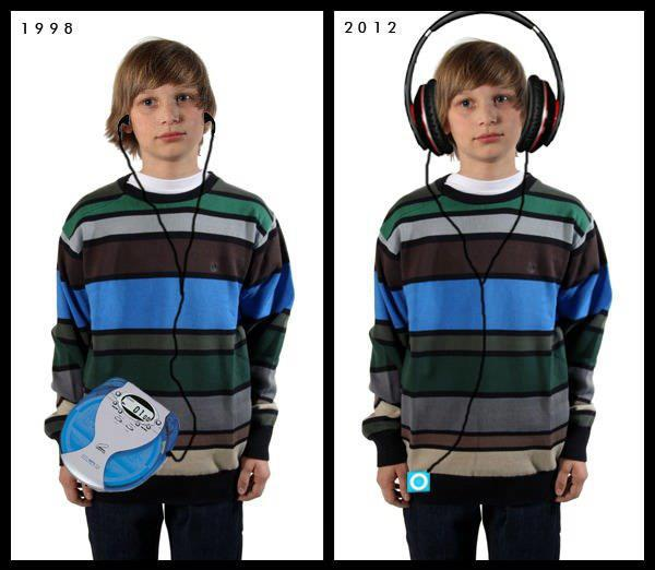 1998 en 2012, hoofdtelefoon