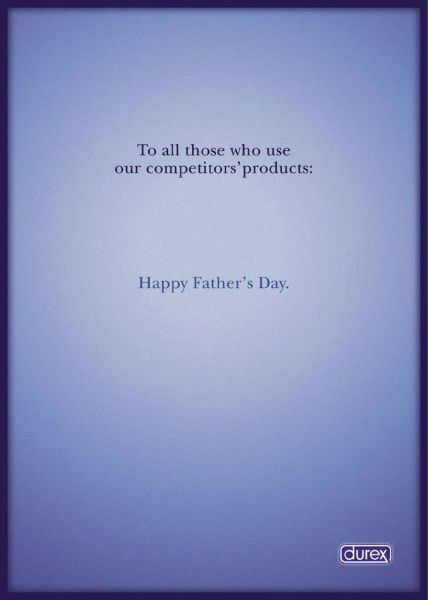 Durex, advertentie voor vaderdag. Happy Father's Day