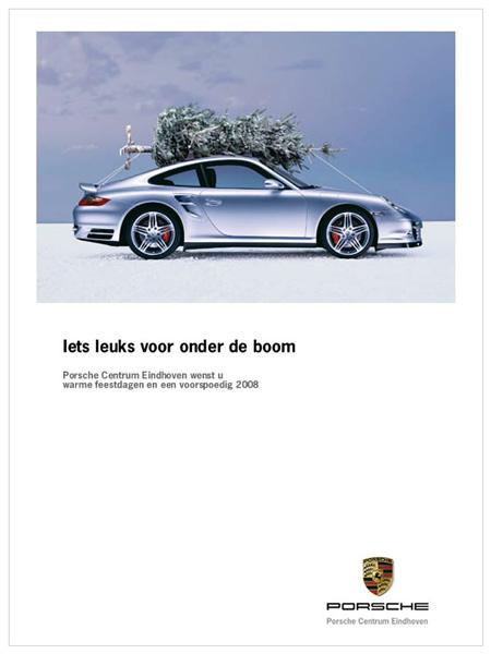 Auto onder kerstboom - Porsche