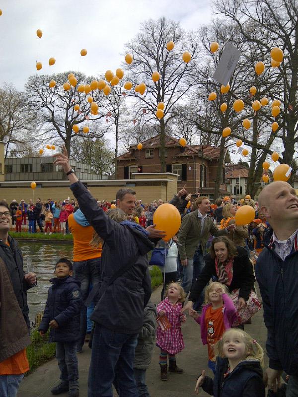 Ballonnenwedstrijd, Hilversum, Koninginnedag 2013