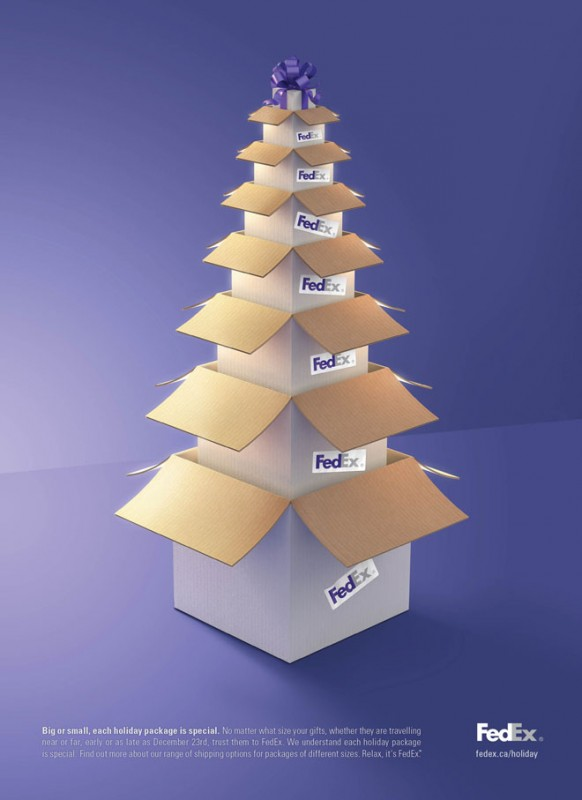 kerstboom dozen FedEx
