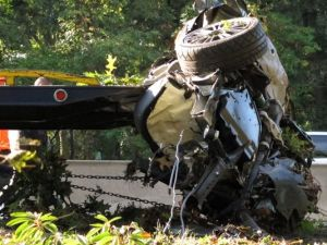 A 2012 crash in West Hempstead, N.Y., in which the teen driver had smoked marijuana. (Photo: Frank Eltman, AP)