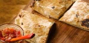 Chorizo–Goat Cheese Quesadillas Recipe