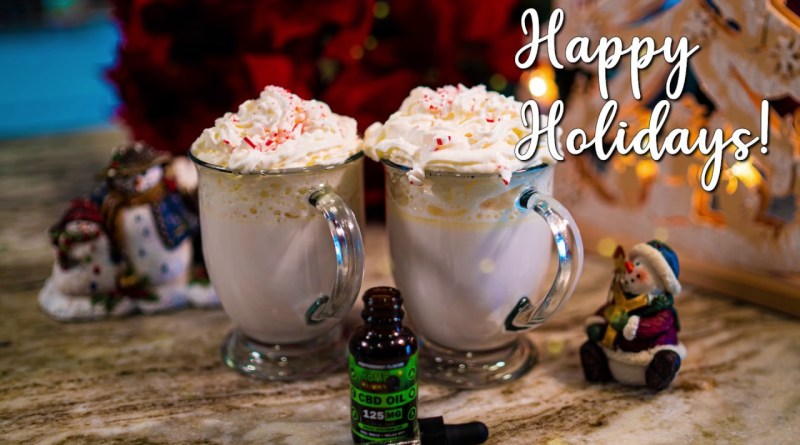 CBD Winter Drinks: Peppermint White Hot Chocolate
