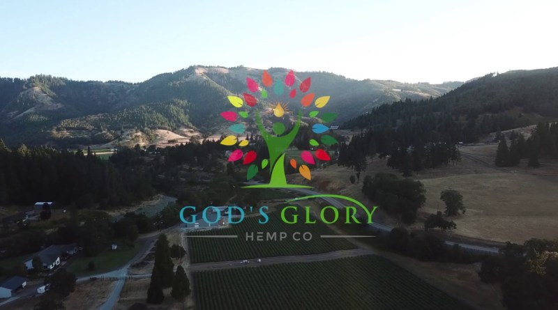 God's Glory Hemp Co. CBD hemp crop southern oregon 2019 drone flight