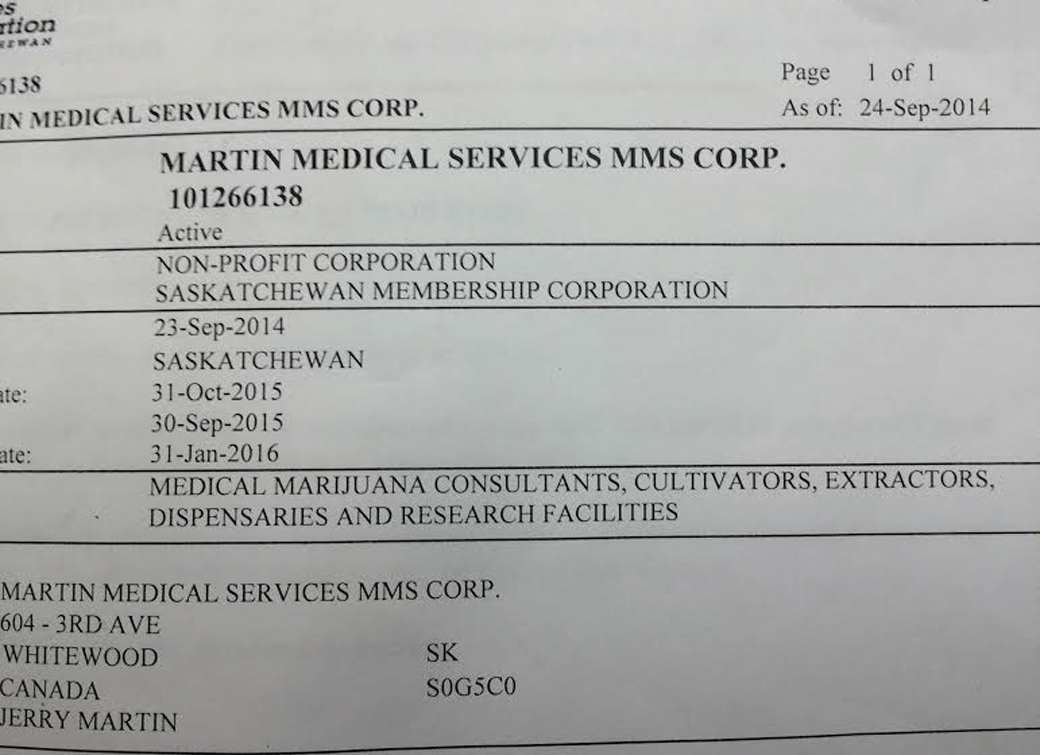 Martin medical services mms corp registered medical marijuana we are incorporated licensed by the government of canada aiddatafo Image collections