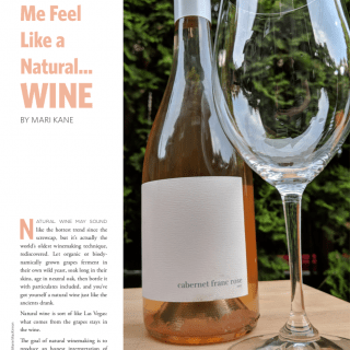 You make me feel natural wine
