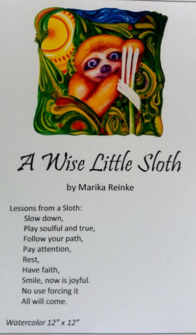 A Wise Little Sloth Storycard by Marika Reinke 2017