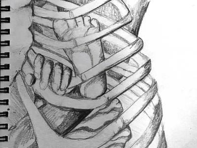 Bent Rib drawing by Marika Reinke 2015