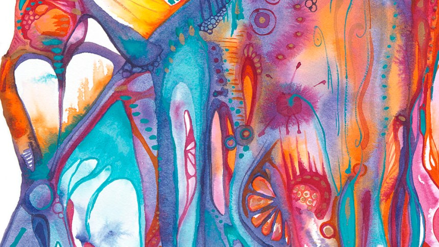 """The Next Party Watercolor by Marika Reinke 16"""" x 12"""""""