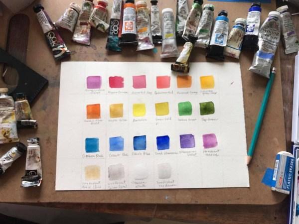 Watercolor Workshop Color Palette