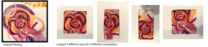 Various compositions can be made from one small painting.