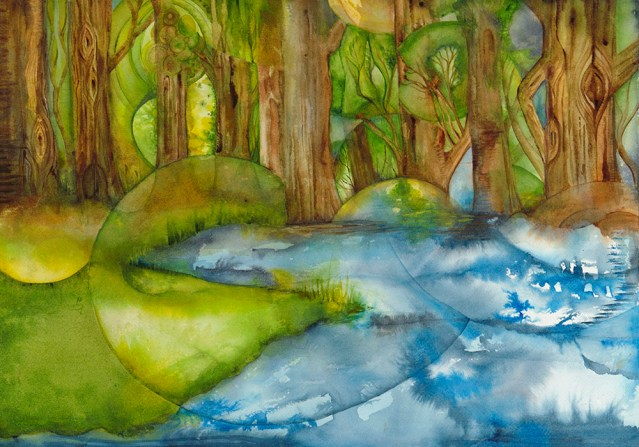"Forest 14"" x 20"" Watercolor (c) Marika Reinke 2018"