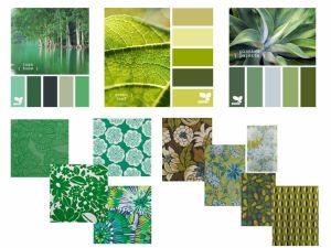 Les tissus vert