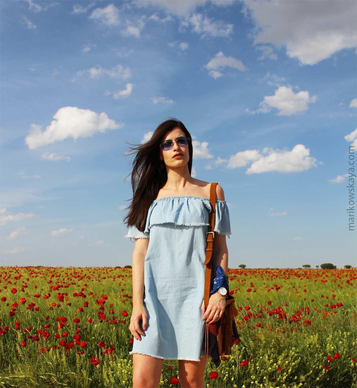 marikowskaya street style off-shoulders tops