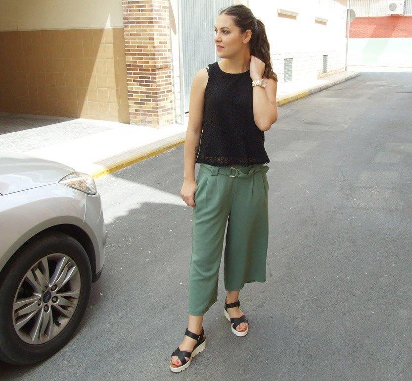 marikowskaya street style pantalón culotte kakhi (4)