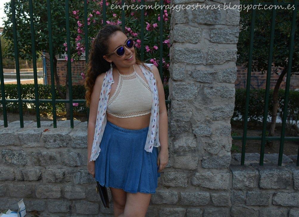 marikowskaya street style andrea bueno top crochet (2)