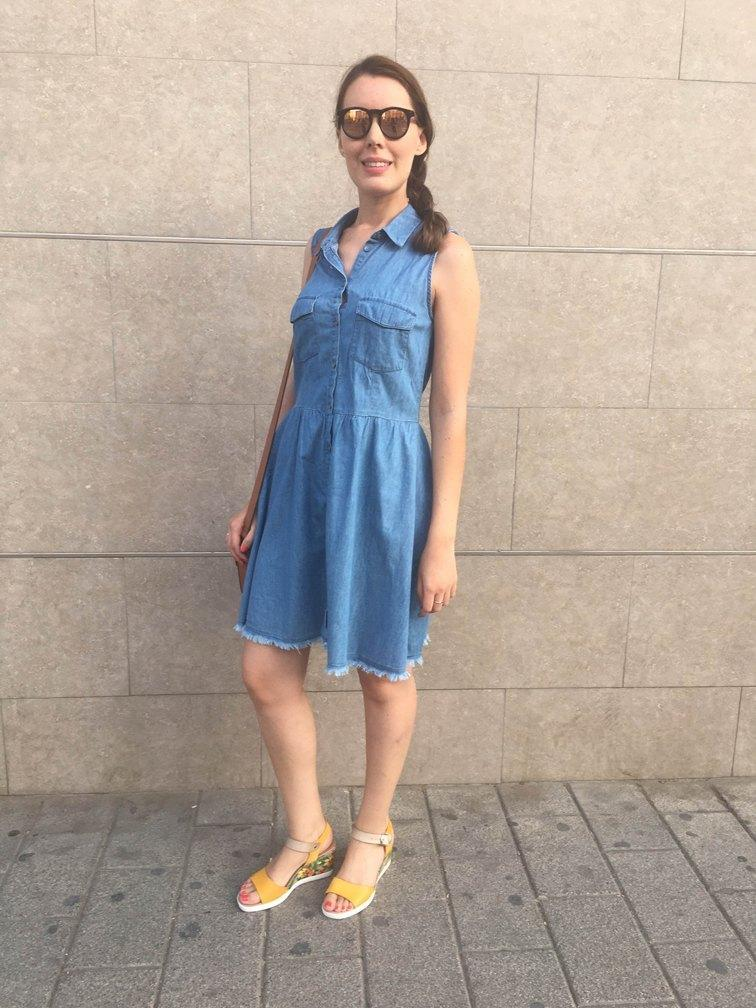 marikowskaya street style monica vestido vaquero (3)