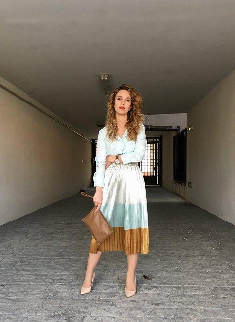 marikowskaya street style jennifer falda plisada (3)