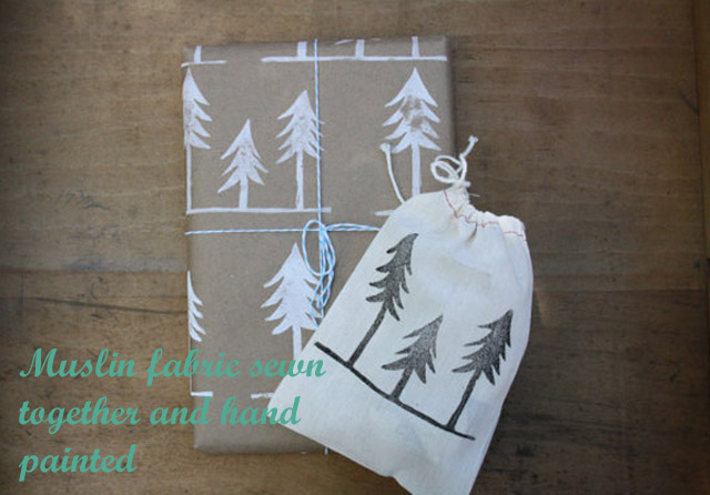 hand-stamped-christmas-trees-on-kraft-and-muslin-bag copy