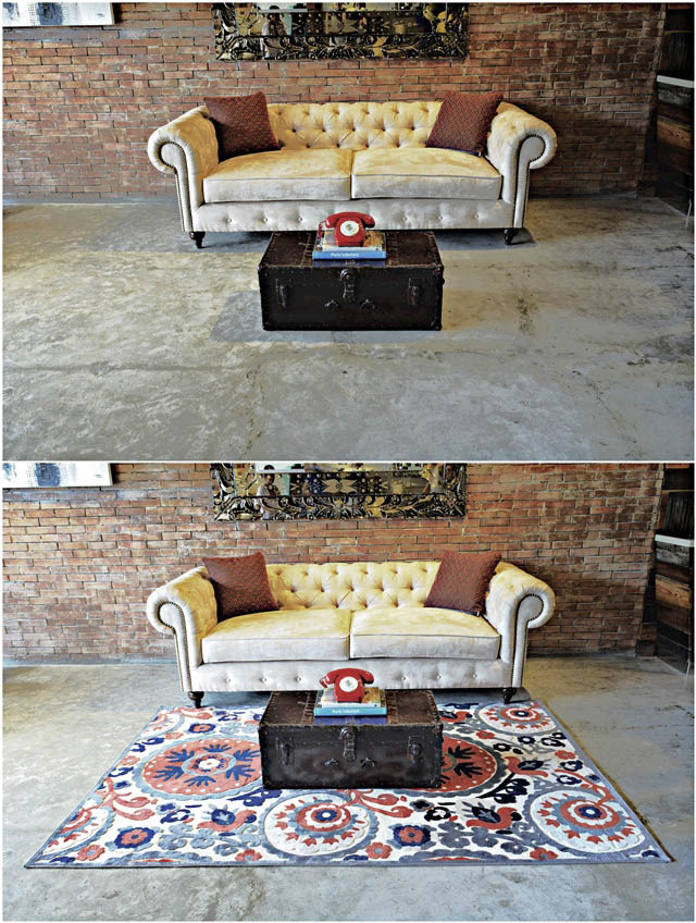 I Love The Bright Colors And Print Of This European Rug Thank You To Decoliving For Providing These Photos They Really Are My Favorite Supplier In Town As