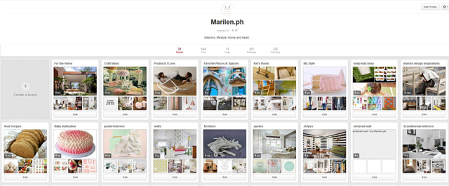 My Pinterest account https://www.pinterest.com/marilenph/