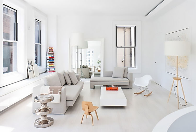 how to keep a minimalist living room