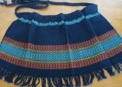 Apron with Pattern Weave