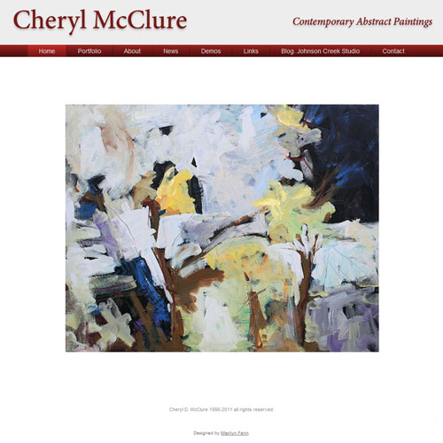 link to website for painter Cheryl McClure