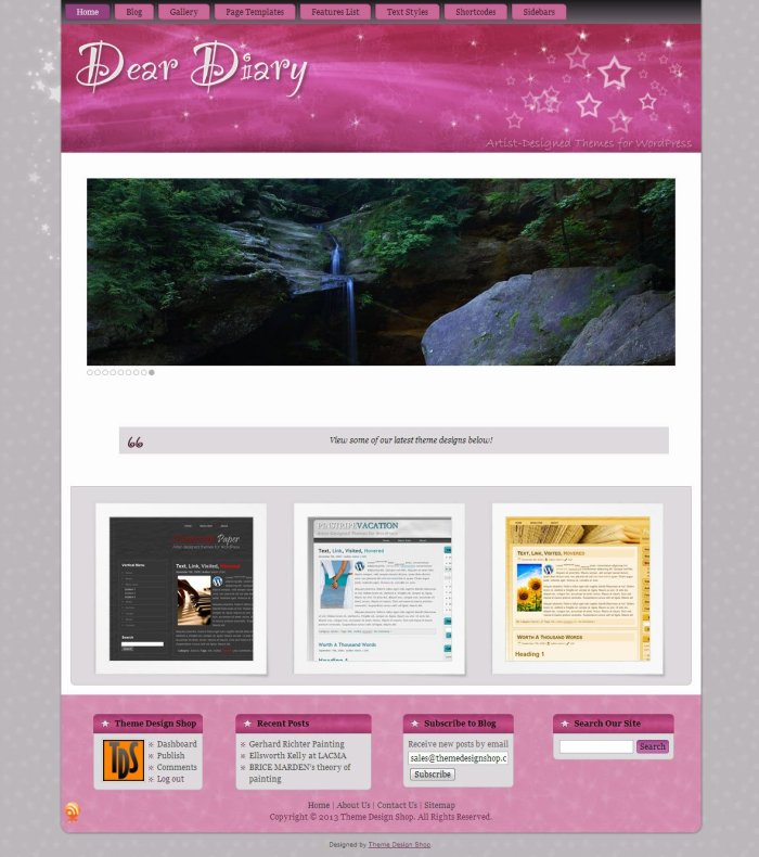 Dear Diary WordPress Theme