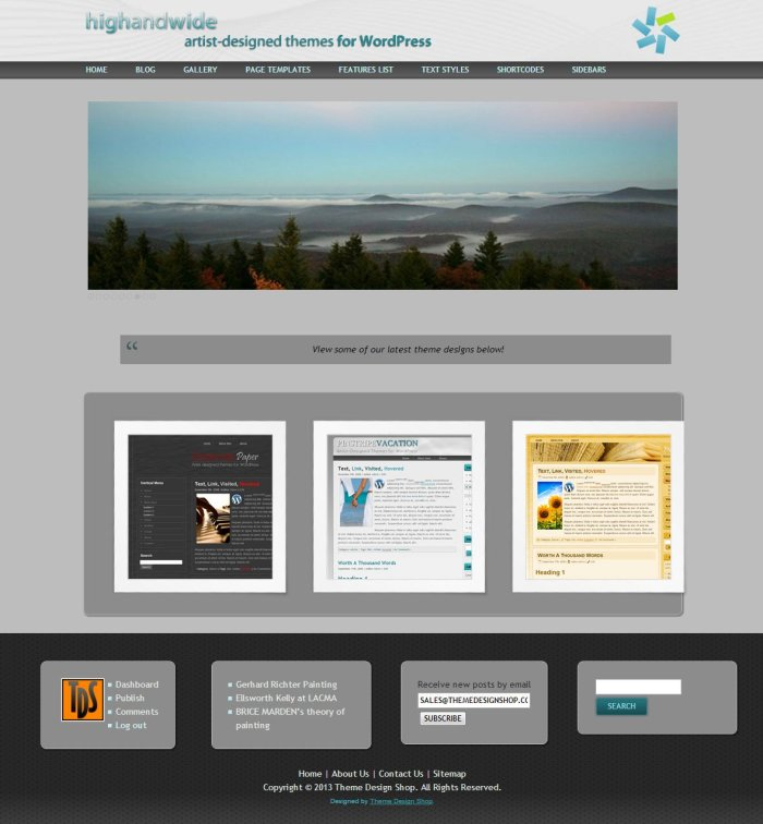 High and Wide WordPress Theme