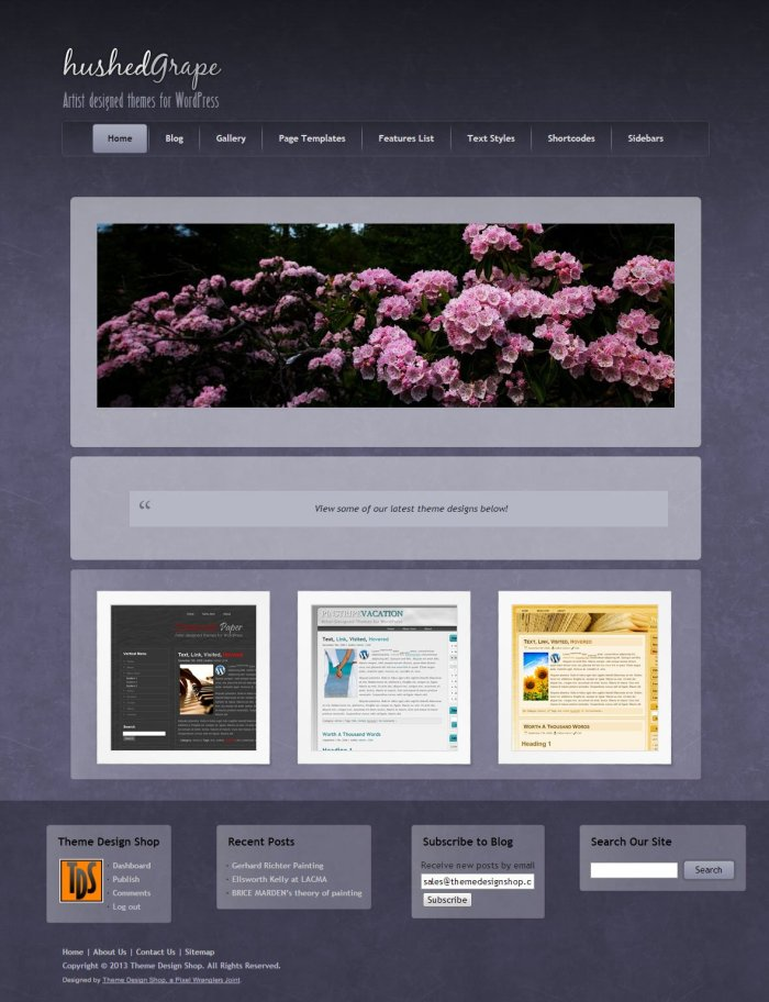 Hushed Grape WordPress Theme