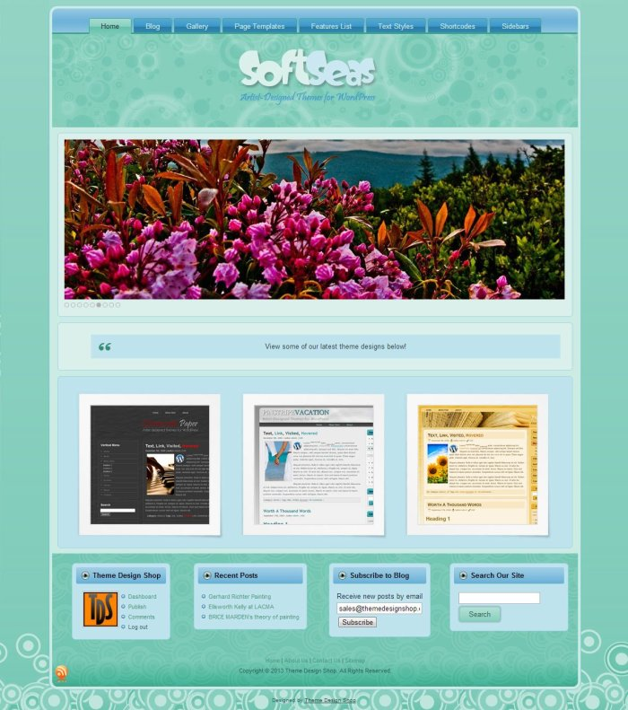 Soft Seas WordPress Theme