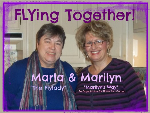 Marla and Marilyn flying together