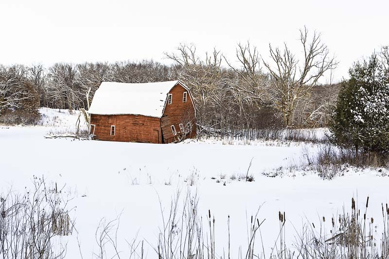 The Sinking Barn near Zimmerman, MN