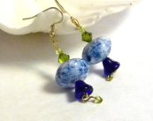 Blue Bell Abstract Earrings