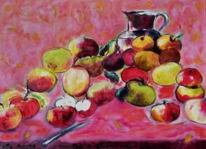 Apples with Pitcher Apples with Pitcher 18x24