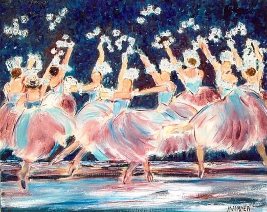 At the Ballet, 16x20
