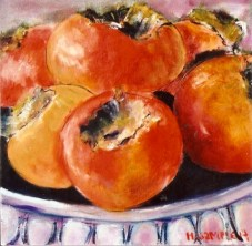 Bowl of Persimmons 8x8