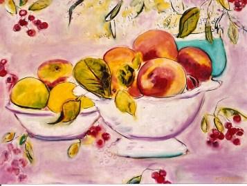 Bowls of Peaches 20x24
