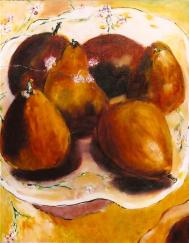Burnt Sienna Pears 16x20